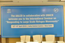 Seminar on Responding to Large Scale Refugee Movements organized by AALCO-UNHCR on 19 April 2018