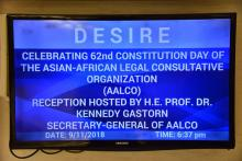 62nd Constitution Day Celebration of AALCO on 09 November 2018